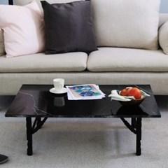 [채우리] 센시블레 900 접이식 액자 테이블(블랙마블)