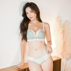 코롱 노와이어 코르셋 브라팬티 속옷세트_(899236)