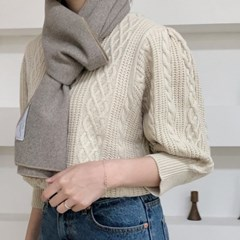 natural grey muffler ( hand made )