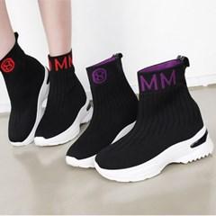 kami et muse Color lettering scoks fit sneakers_KM19w068