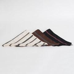 P8436 배색라인 미니 삼각 스카프