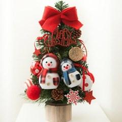 리본 눈사람 트리 45cmP 미니트리 크리스마스 TRHMES_(1511461)