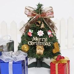 글자리본장식 트리 30cmP 미니트리 크리스마스 TRHMES_(1511445)
