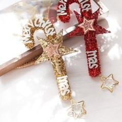 크리스탈 별지팡이25cmP 트리 리스 크리스마스 TROMCG_(1503251)