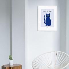 [카멜앤오아시스] Blue Cat 고양이 포스터