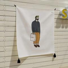 힙스터 일러스트 패브릭 포스터 / 가리개 커튼