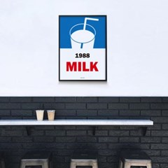 1988밀크 M 유니크 인테리어 디자인 포스터 우유