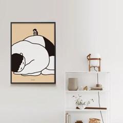 쑥쑥 자란다 M 유니크 인테리어 디자인 포스터