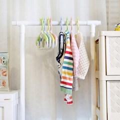 곰돌이 확장형 옷걸이 4P 아기 유아 길이 조절 가능_(1459778)