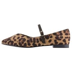 SPUR[스퍼] 플랫 OF9043 Leopard maryjanes 레오파드