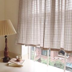 앨리스 코코아 창문 가리개커튼+봉포함