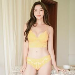 뮬리 패드내장 레이스브라렛 속옷세트_(901682)