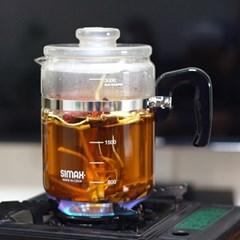 시맥스 내열유리 약탕기 3L 직화주전자