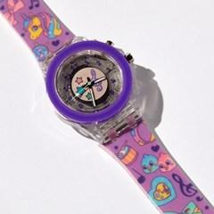 빅키드 불빛나는 초등학생 유아 어린이 전자 손목시계