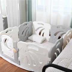 콤마아이 베이비룸 8p 그레이(문포함) 아기안전펜스