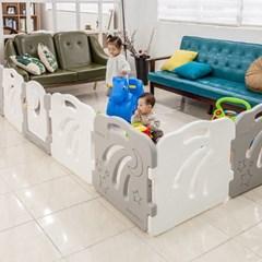 콤마아이 베이비룸 6p 화이트(문포함) 아기안전펜스