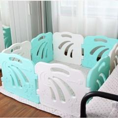 콤마아이 베이비룸 8p 민트(문포함) 아기안전펜스