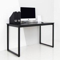 디어 1200 블랙 컴퓨터 입식 책상-블랙프레임