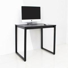 디어 800 입식 컴퓨터 책상 블랙 철제 노트북 게이밍 PC방 테이블