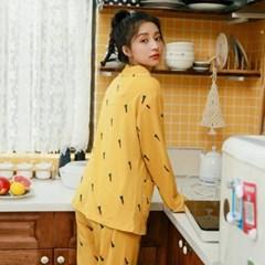도톰 순면 환절기 당근 홈웨어 잠옷 파자마