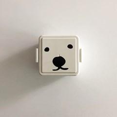 [폴라앳홈] 북극곰 시리즈 똑딱이 보냉 도시락 (정사각/직사각)