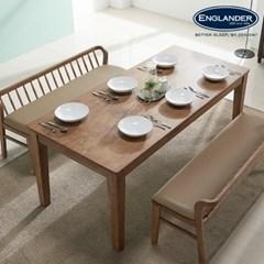 아모스 고무나무 원목 6인용 식탁(의자 미포함)