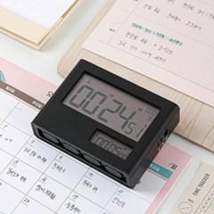 라이프썸 듀얼 디지털 스톱워치 (LFS-HA28) 블랙