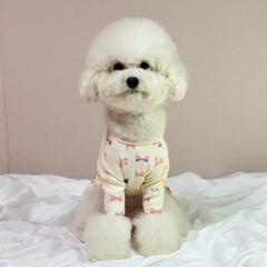 러블리댕댕 강아지 리본원피스