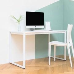 디어 1200 입식 컴퓨터 책상 화이트 철제 노트북 테이블