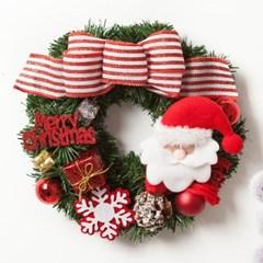 목도리 산타 리스 250Ø(mm)P 트리 크리스마스 TRWGHM_(1524214)