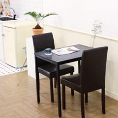 아카시아 킹우드 블랙우드 2인 식탁 테이블 세트