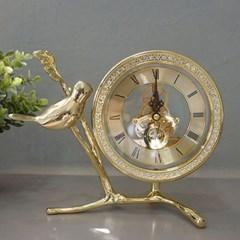골드 나뭇가지 톱니 탁상시계(2type)_(1752919)