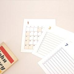 2020 Calendar & Check list