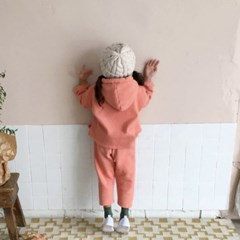 꽁) 오란다 아동 후드상하세트