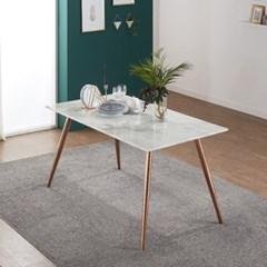 엘리 로즈 골드 대리석 6인용 식탁 테이블 1600(리퍼브)