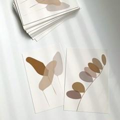 어텀 리프 포스트카드 autumn leaf postcard