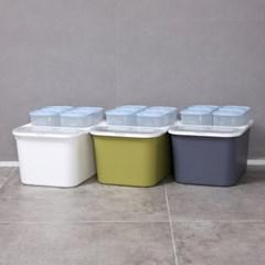 심플 오픈형 쌀통10kg 2종_(989897)