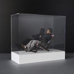 건프라 피규어용 아크릴 상자 h330wb