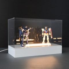 월콜 전시 조명 아크릴 상자 h330wbl