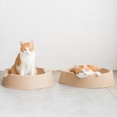 묘심 올페이퍼 베드 고양이 종이방석
