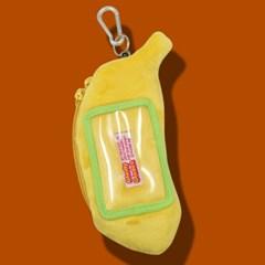 [미미키친] 그라디 바나나 키링 카드지갑