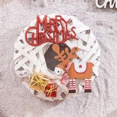 플랫 사슴 리스 200Ø(mm)P 트리 크리스마스 TRWGHM_(1524225)