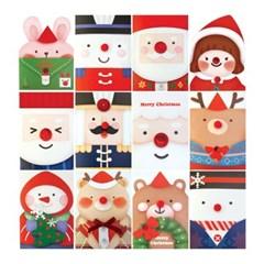 데코미니 크리스마스카드 FS515 (12종 한세트)