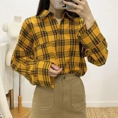 마쉬옐로우 젝플리 오버핏 체크 셔츠 (2colors)