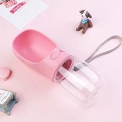 강아지 휴대용 원터치 물병 (3 Color)