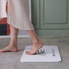 수분 순삭 양면 규조토 발매트 욕실매트 (미끄럼방지패드&사포 증정)