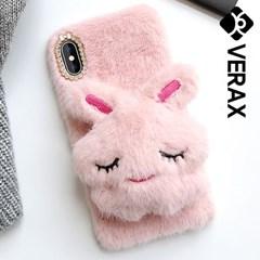 아이폰6S 보송보송 토끼 퍼 커퍼 젤리 케이스 P363_(2002425)