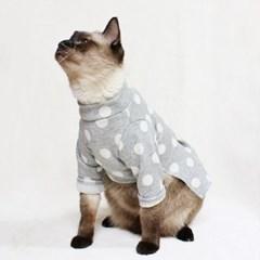 [CAT] 몽페레 플러피 도트원피스 (Cloudy Gray)