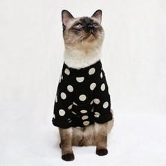 [CAT] 몽페레 플러피 도트맨투맨 (Snug Black)
