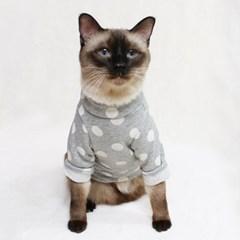 [CAT] 몽페레 플러피 도트맨투맨 (Cloudy Gray)